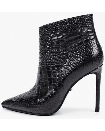 Черные кожаные ботинки Vitacci