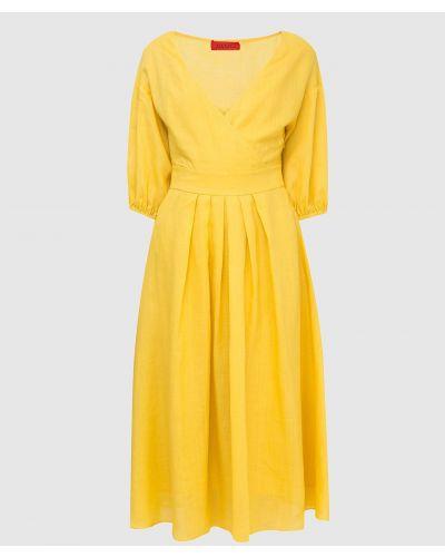 Платье миди - желтое Max & Co