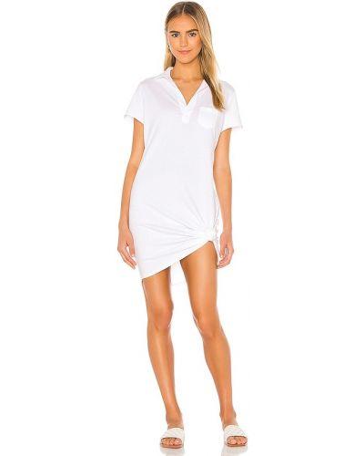 Трикотажное белое платье с карманами Frank & Eileen