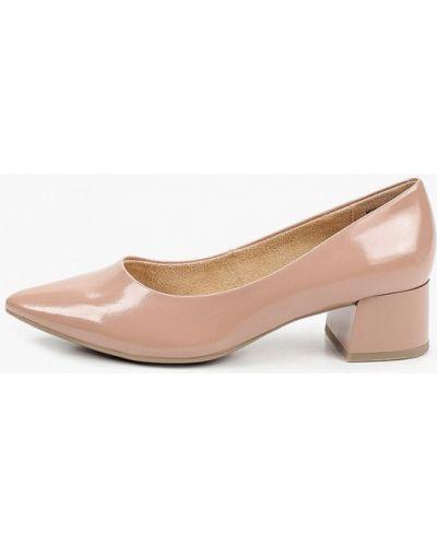 Лаковые кожаные розовые туфли Covani
