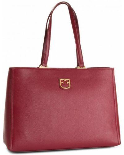 Красная сумка-тоут из натуральной кожи Furla