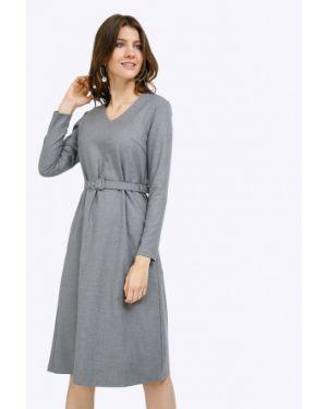 Платье миди серое повседневное Emka