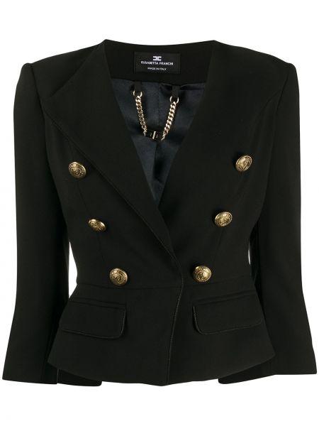 Куртка на пуговицах с карманами Elisabetta Franchi