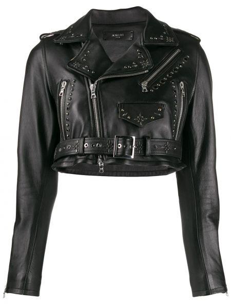 Куртка черная байкерская Amiri