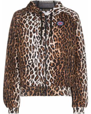 Куртка с капюшоном спортивная леопардовая Versace