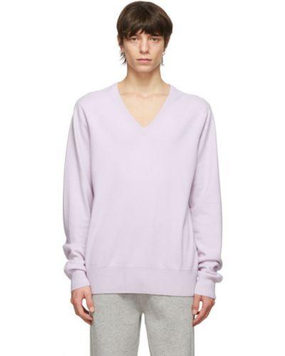 Кашемировый длинный свитер с воротником с V-образным вырезом Extreme Cashmere