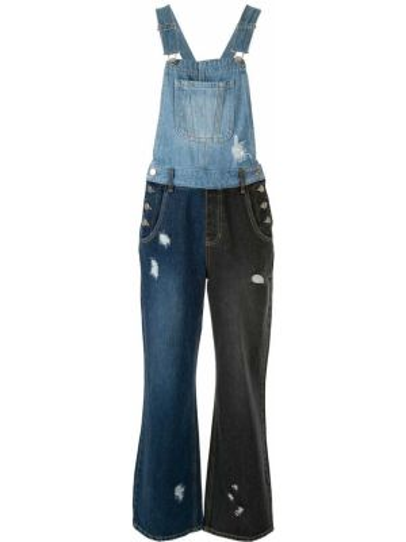 Jeansy do kostek z łatami niebieskie Sjyp