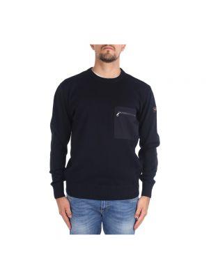 Sweter z łatami z kieszeniami z zamkiem błyskawicznym Paul & Shark