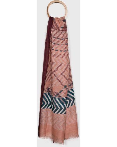 Розовый шарф с узором Pieces