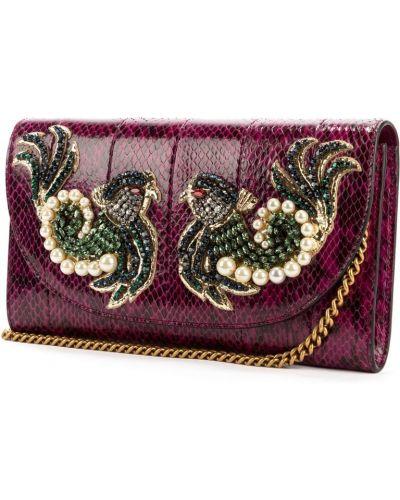 Fioletowa kopertówka Gucci Vintage