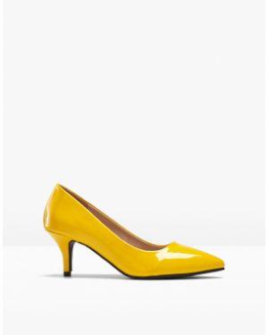 Лаковые желтые туфли на шпильке Bonprix