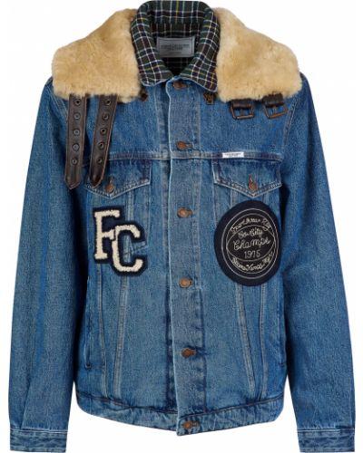 Шерстяная куртка - синяя Forte Couture