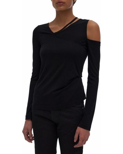 Koszulka z wiskozy - czarna Helmut Lang