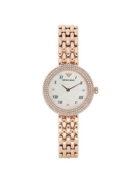 Żółty złoty zegarek Emporio Armani