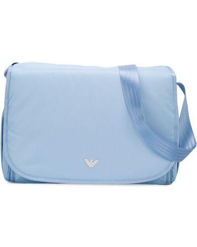Niebieska torebka bawełniana Emporio Armani Kids