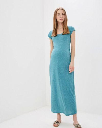 Платье для беременных весеннее бирюзовый Mama.licious