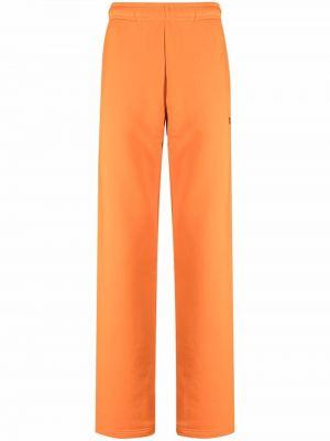 Pomarańczowe joggery z haftem bawełniane Misbhv