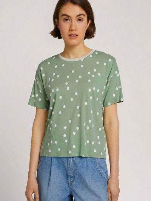 Бирюзовая зимняя футболка Tom Tailor Denim
