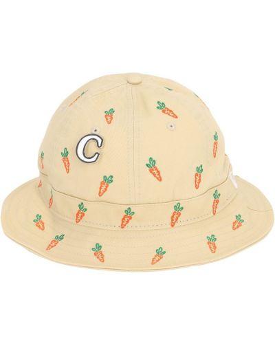 Pomarańczowy kapelusz z haftem Carrots