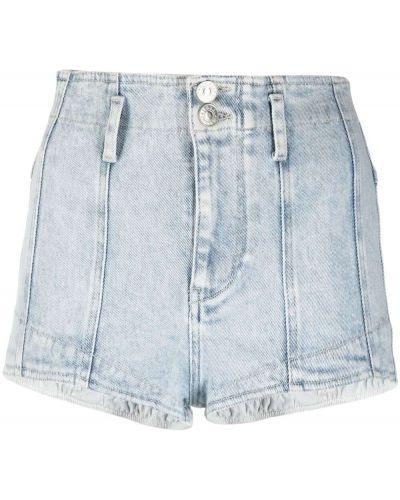 Niebieskie jeansy bawełniane z paskiem Isabel Marant