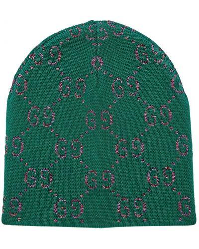 Zielony kapelusz bawełniany Gucci