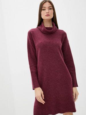 Трикотажное платье - бордовое Rodier