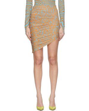 Юбка мини с цветочным принтом асимметричная Maisie Wilen