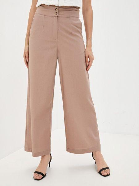Повседневные розовые брюки осенние B.style