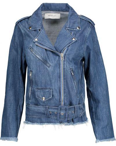 Niebieskie jeansy bawełniane z paskiem Marques Almeida