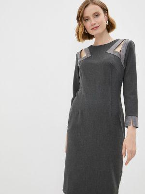 Повседневное серое платье Adzhedo