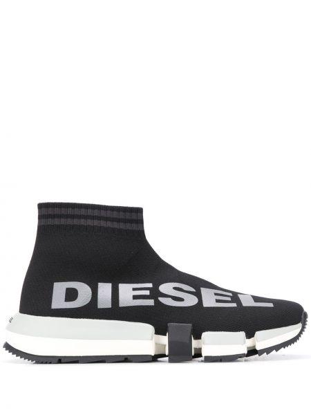 Черные носки в рубчик Diesel
