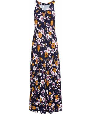 Летнее платье макси на резинке Bonprix
