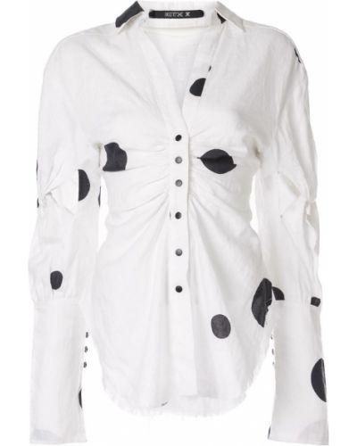 Приталенная рубашка с воротником с манжетами с оборками Kitx