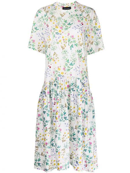 Хлопковое платье миди - белое Cynthia Rowley