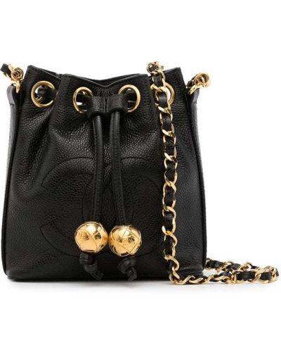 Черная сумка винтажная Chanel Pre-owned