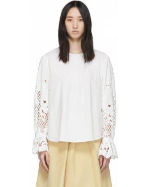 Блузка с длинным рукавом с цветочным принтом с воротником-стойкой See By Chloe