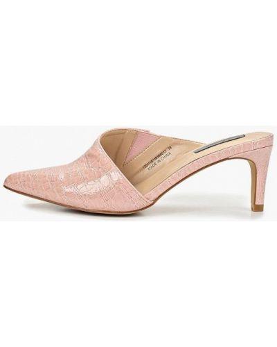 Сабо розовый на каблуке Lost Ink.
