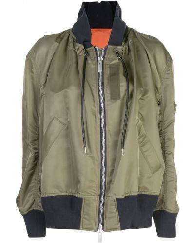 Куртка с капюшоном длинная оверсайз Sacai