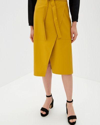 Кожаная юбка желтый итальянский Imperial