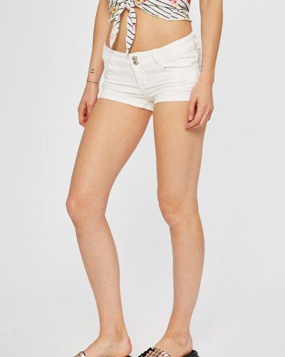 Джинсовые шорты с завышенной талией белые Tally Weijl