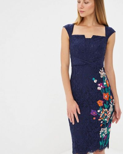 Вечернее платье синее Karen Millen