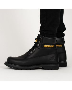 Текстильные черные ботинки Caterpillar