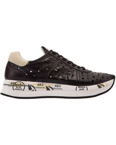 Кроссовки черные с перфорацией Premiata