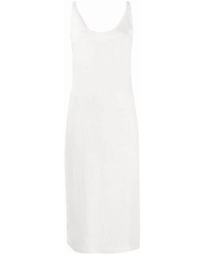 Нейлоновое платье миди без рукавов с вырезом трапеция Raquel Allegra