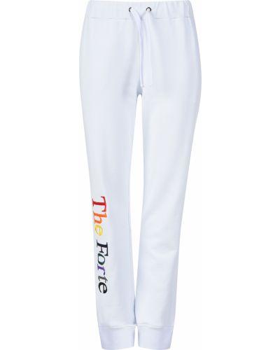 Хлопковые спортивные брюки - белые Forte Couture
