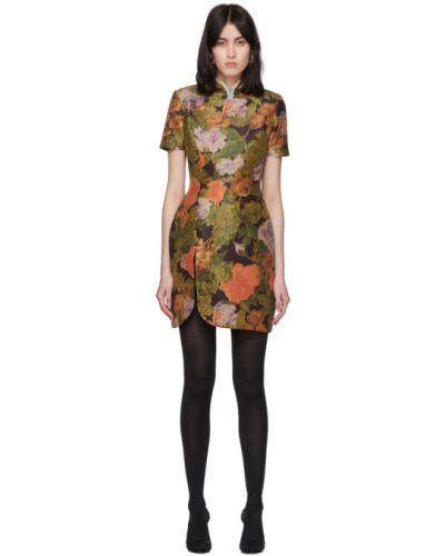 Платье с цветочным принтом с отложным воротником Richard Quinn
