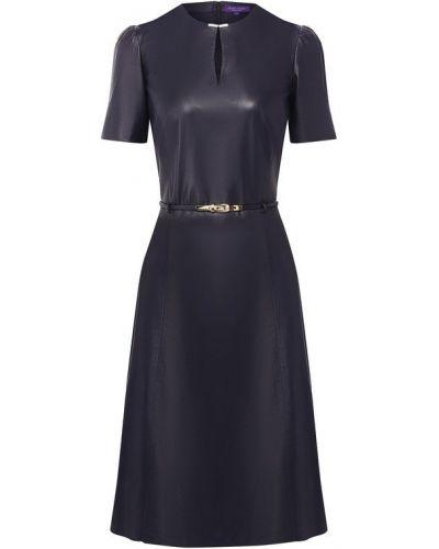 Платье мини с поясом с вырезом Ralph Lauren