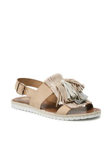 Sandały espadryle - beżowe Nessi