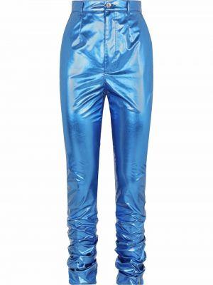 Spódnica z wysokim stanem - niebieska Dolce And Gabbana