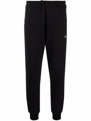 Черные брюки с вышивкой Vivienne Westwood
